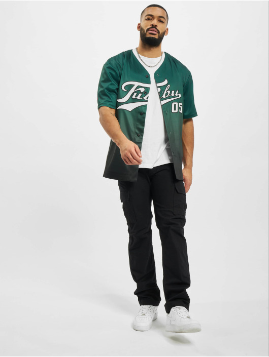 Fubu Camisa Varsity Baseball verde