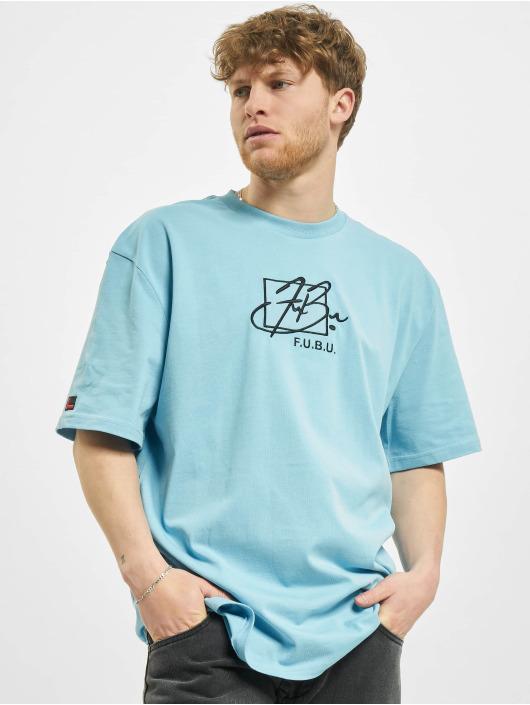 Fubu Camiseta Script azul