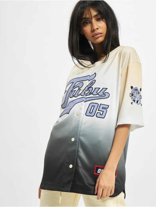 Fubu Chemise Varsity Baseball beige