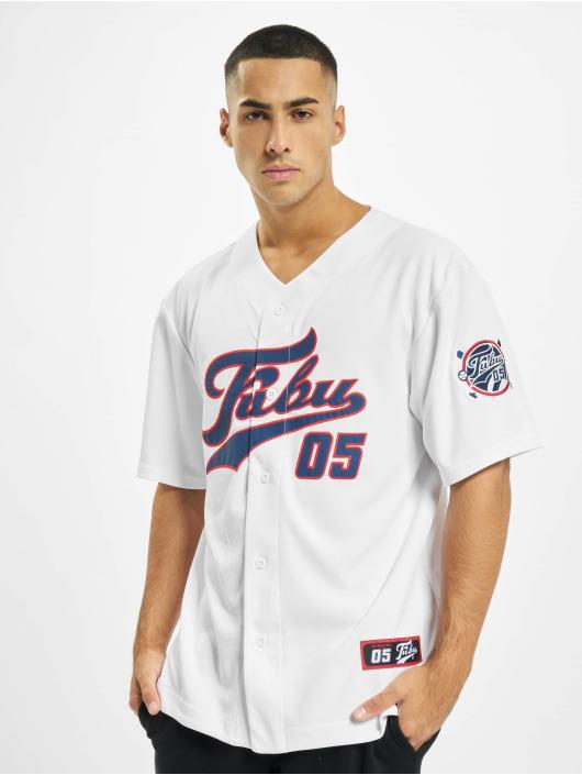 Fubu Chemise Fb Varsity Baseball blanc