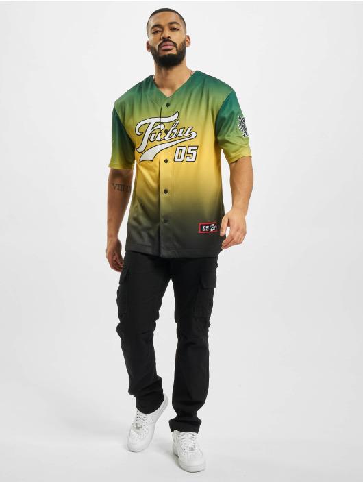 Fubu Chemise Varsity Baseball vert