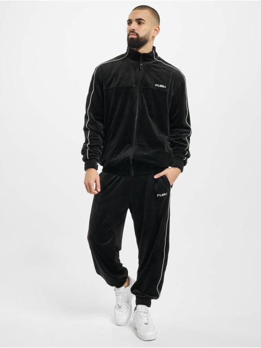 Fubu Jogginghose Fb Corporate Velours schwarz