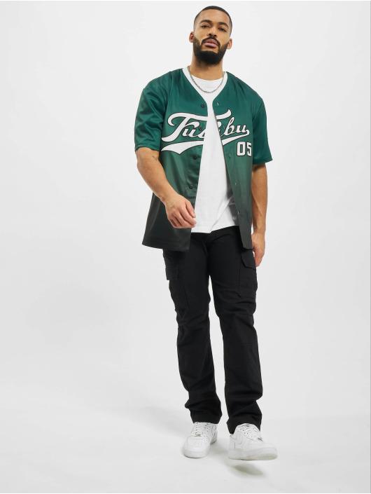Fubu Kauluspaidat Varsity Baseball vihreä
