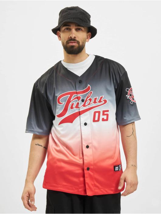 Fubu Shirt Varsity Baseball Jersey Gradient black