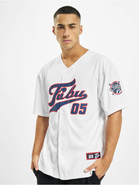 Fubu Shirt Fb Varsity Baseball white