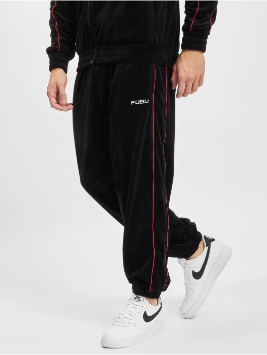 Fubu Spodnie do joggingu Corporate Velours czarny