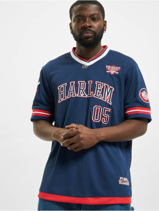 Fubu T-Shirt Athletics Harlem Jersey blau
