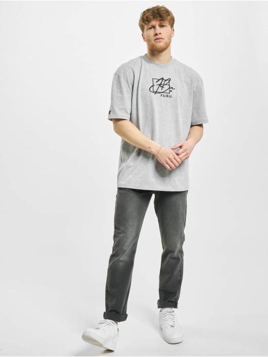Fubu t-shirt Script grijs