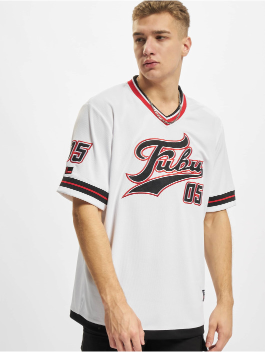 Fubu T-Shirt Varsity Jersey weiß