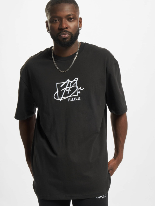 Fubu t-shirt Script Essential zwart