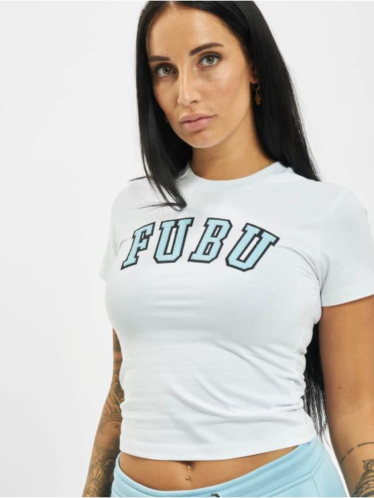 Fubu T-Shirty Fb College Crop bialy