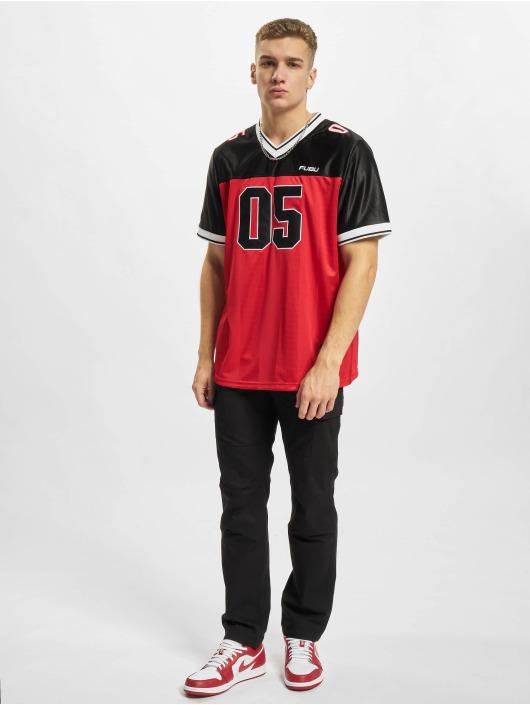 Fubu T-Shirty Corporate Football Jersey czerwony