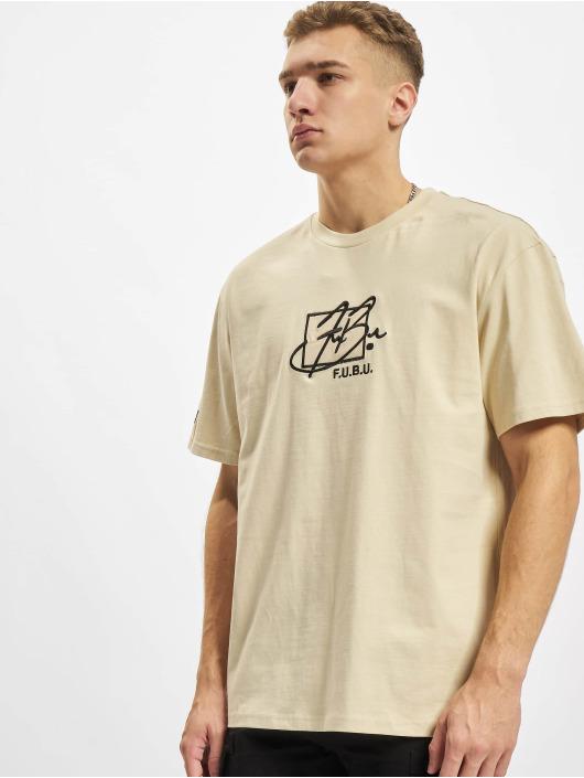 Fubu T-skjorter Script Essential beige