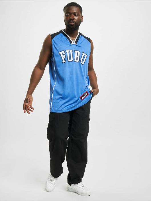 Fubu Tank Tops College Mesh blue