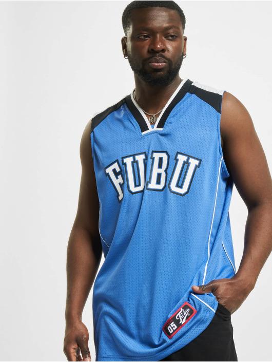 Fubu Tank Tops College Mesh niebieski