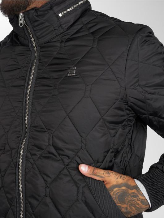 G-Star Kurtki zimowe Meefic Quilted Overshirt czarny