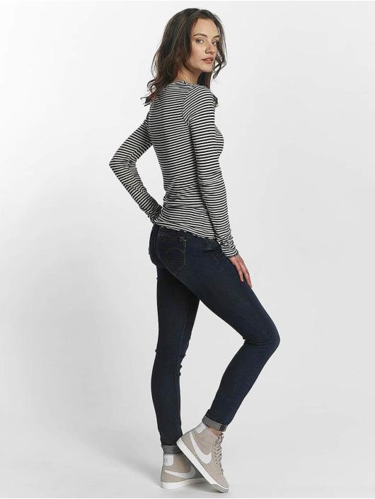 G-Star Skinny Jeans Midge Zip niebieski