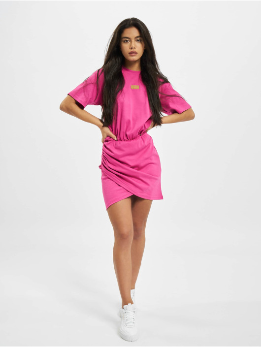 GCDS Šaty WRAPPED MONSTER pink