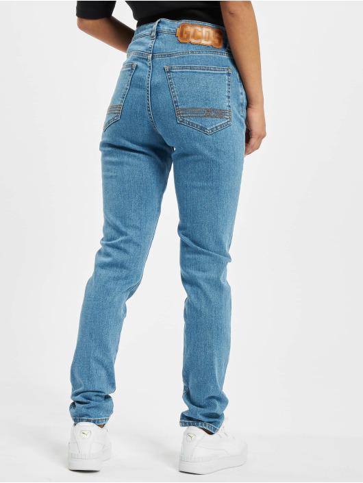GCDS Облегающие джинсы Basic синий