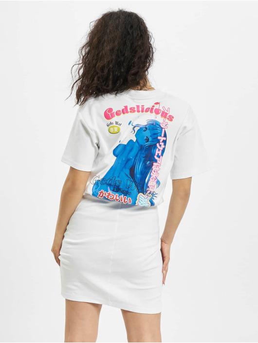 GCDS Платья Wrapped Monster белый