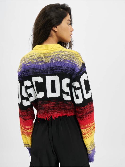 GCDS Пуловер Crop Logo цветной