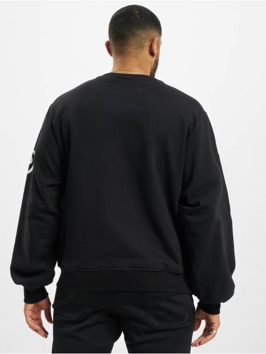 GCDS Пуловер Macro Logo Round черный