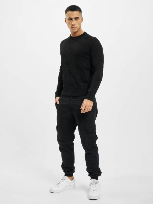 GCDS Пуловер Layer черный