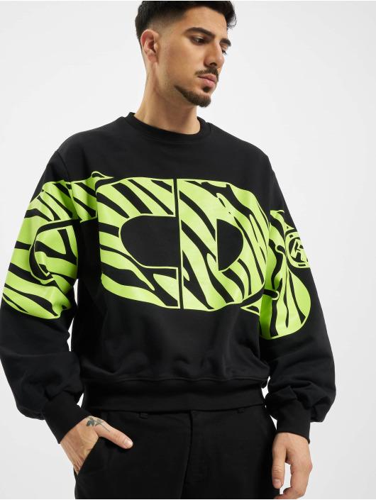 GCDS Пуловер Logo черный