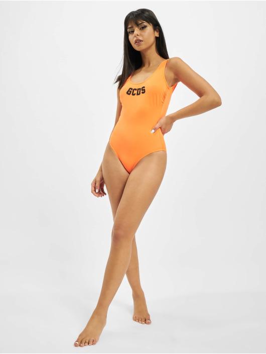 GCDS Badeanzug XCIV orange