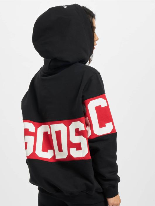 GCDS Bluzy z kapturem Logo czarny