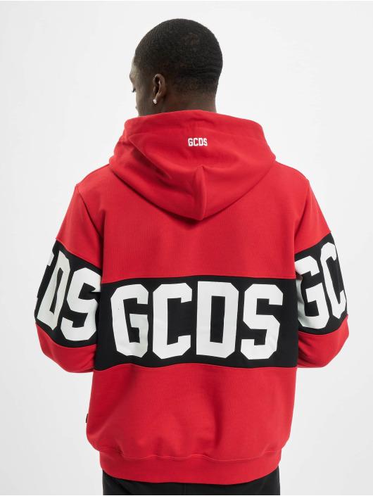 GCDS Bluzy z kapturem Band Logo czerwony