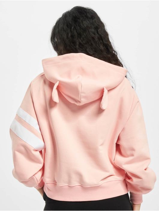GCDS Bluzy z kapturem BABY BEAR CROP pink
