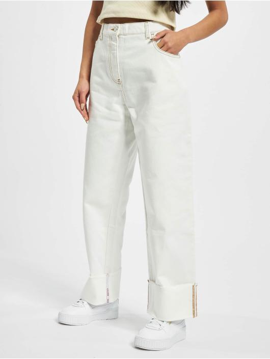 GCDS Boyfriend Jeans Plain bílý