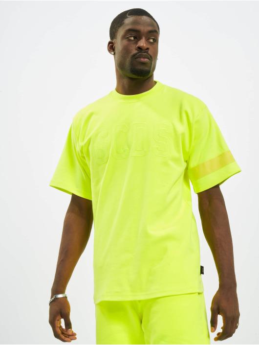 GCDS Camiseta Fluo Logo amarillo