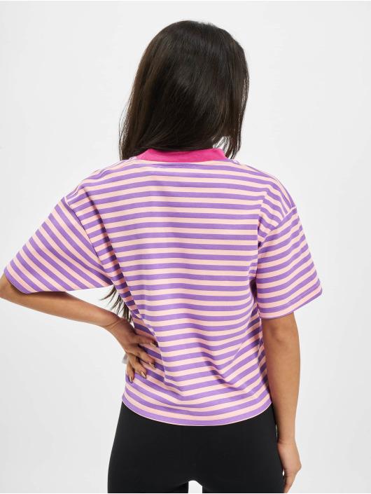 GCDS Camiseta Stripes fucsia