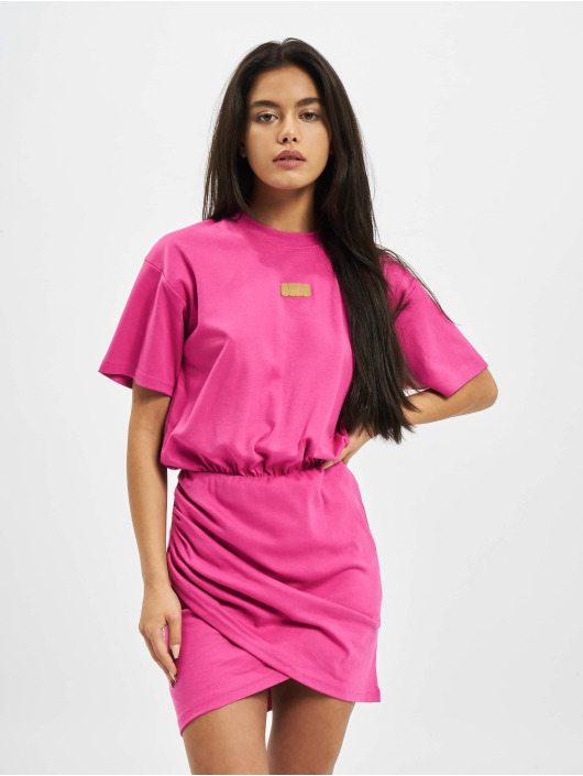 GCDS Dress WRAPPED MONSTER pink
