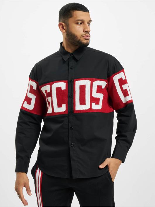 GCDS Hemd Logo schwarz