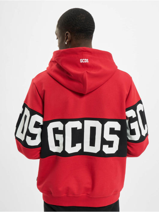 GCDS Hoodie Band Logo röd