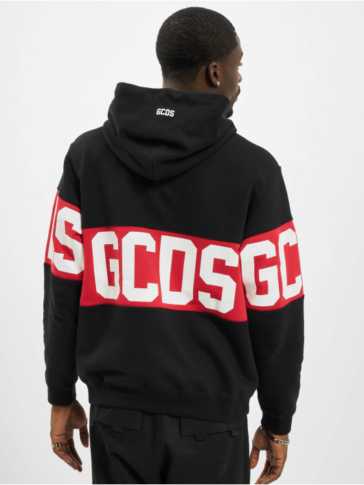 GCDS Hoodie Band Logo svart