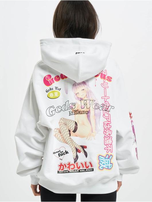 GCDS Hoodie Anime white