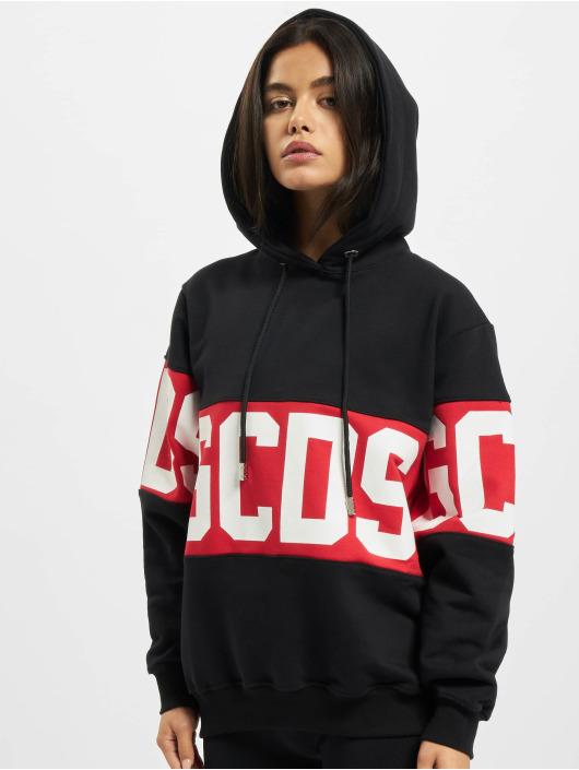 GCDS Hoodies Logo čern
