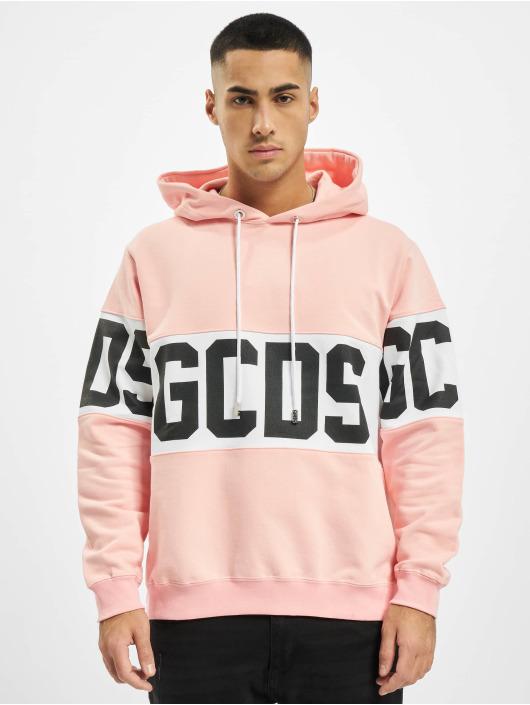GCDS Hoodies Band Logo růžový