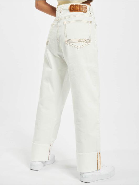 GCDS Jeans boyfriend Plain bianco