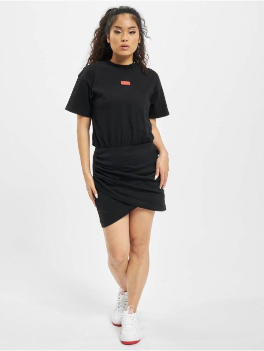 GCDS jurk WRAPPED MONSTER zwart