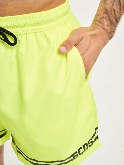 GCDS Kúpacie šortky Classic žltá