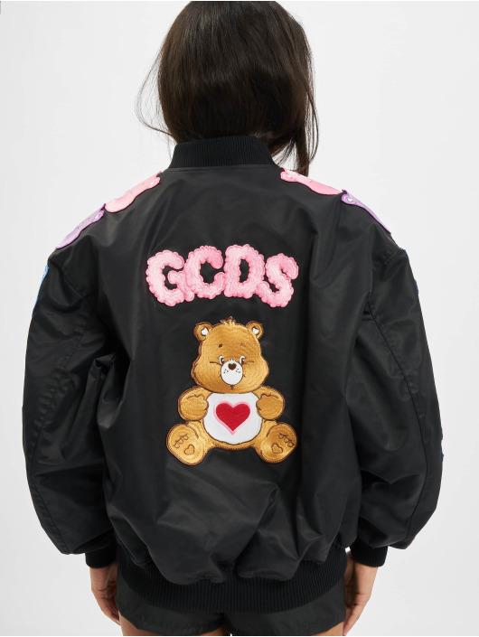 GCDS Letecká bunda Care Bears čern