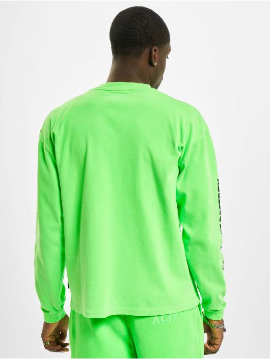 GCDS Longsleeves Logo Print zielony