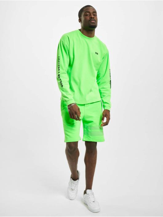 GCDS Maglietta a manica lunga Logo Print verde