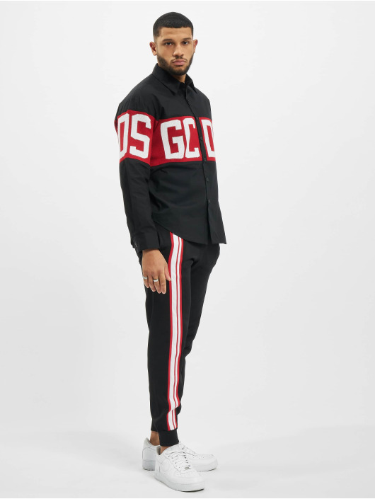 GCDS Pantalón deportivo Logo Track negro