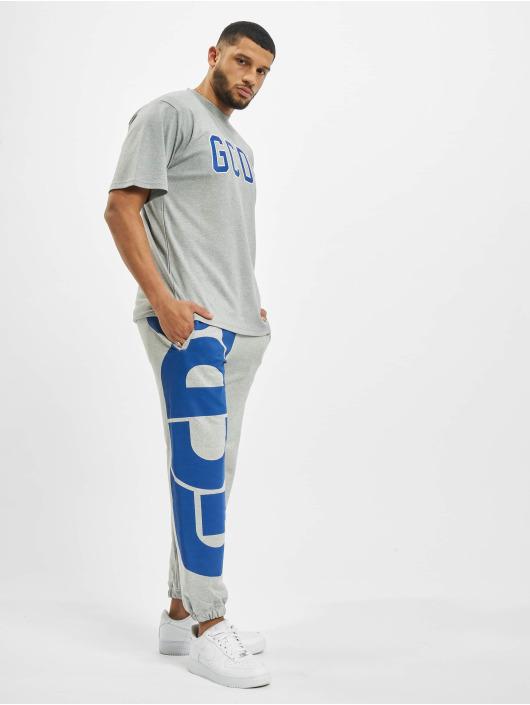 GCDS Pantalone ginnico Macro Logo grigio